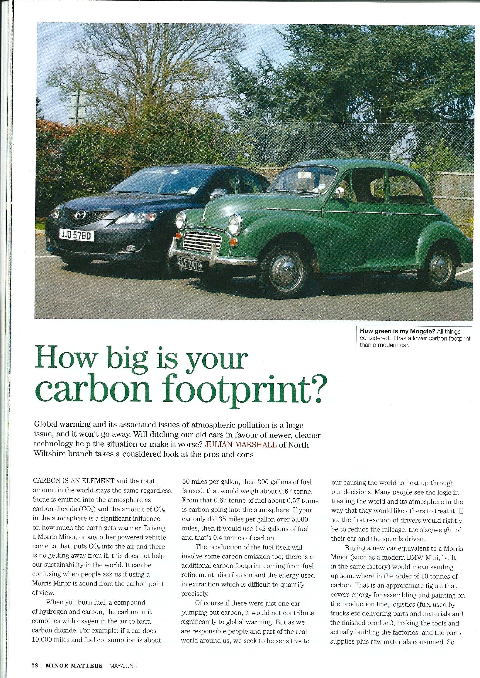 carbon footprint magazine article